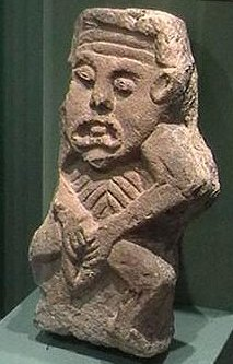 figure from the demolished mediæval church in Cavan town